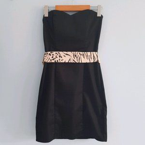 H&M sweetheart strapless LBD removable waist tie